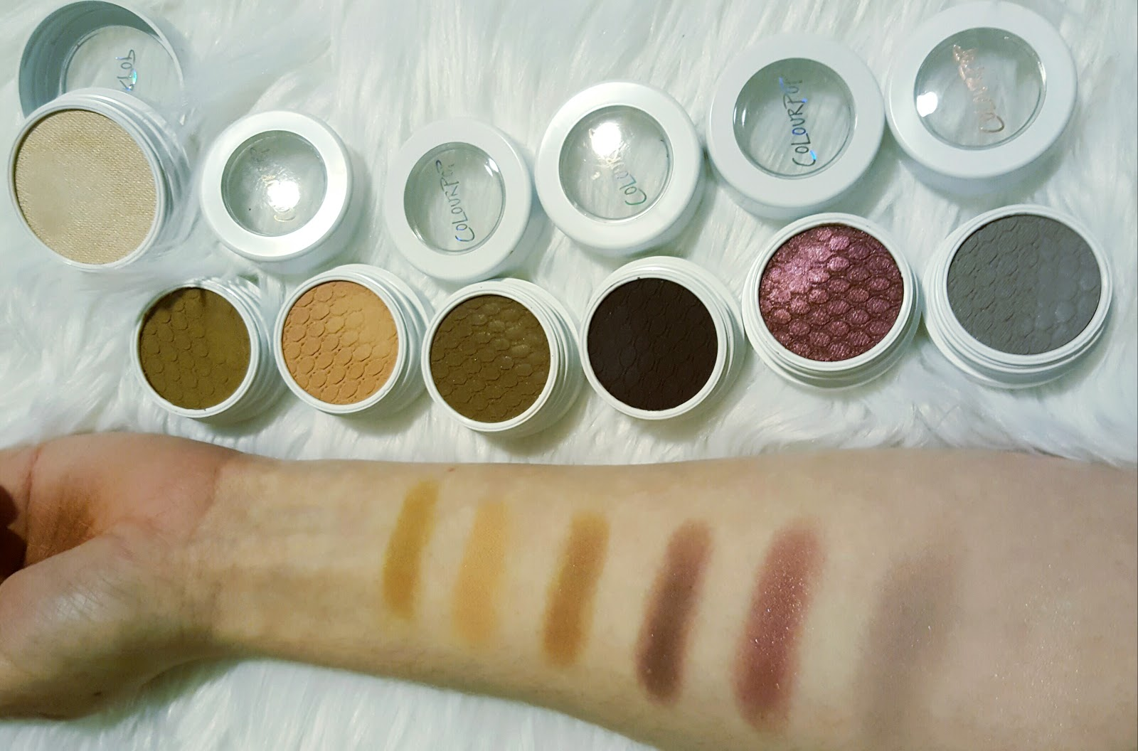 Swatches of Super Shock Shadows