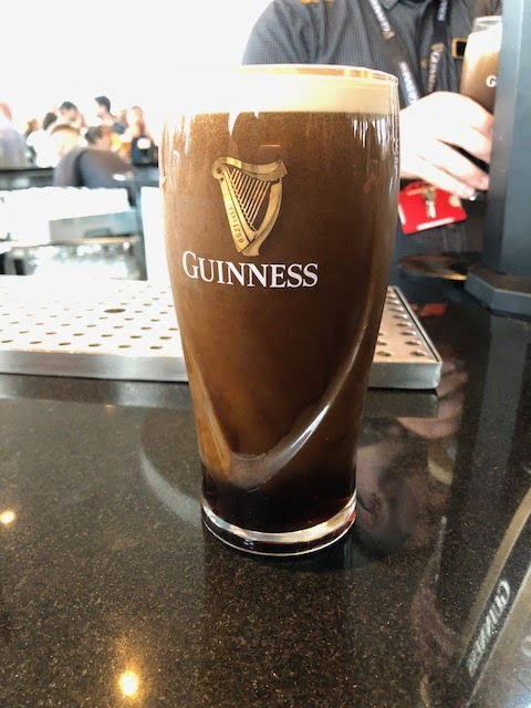 Guinness Tour in the gravity bar