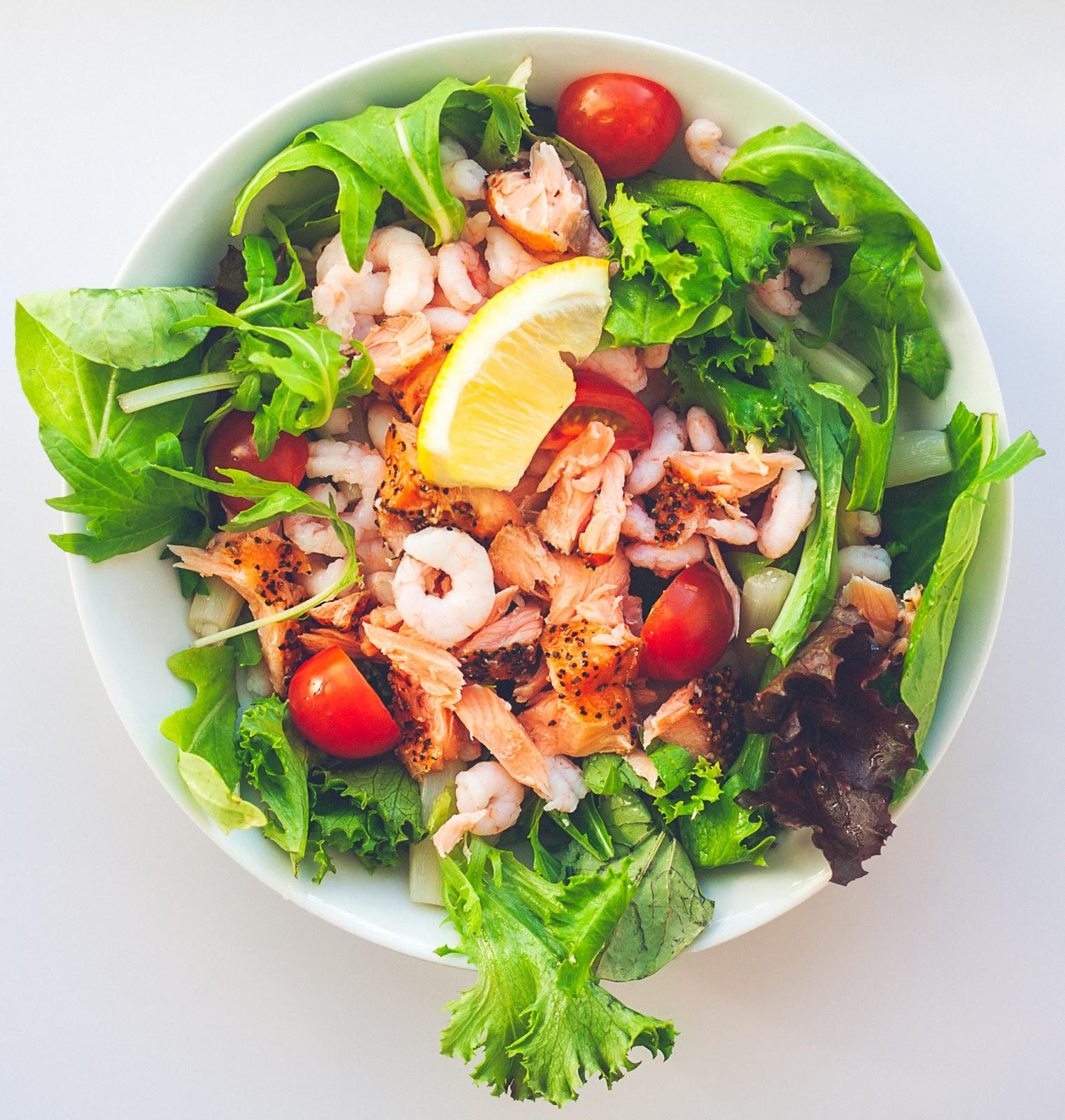 Mad Søde Sager Salat Med Rejer Og Laks
