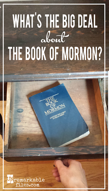 For many years I didn't grasp the real value of the Book of Mormon. And it goes beyond just having a cool name.  {posted @ Unremarkable Files}