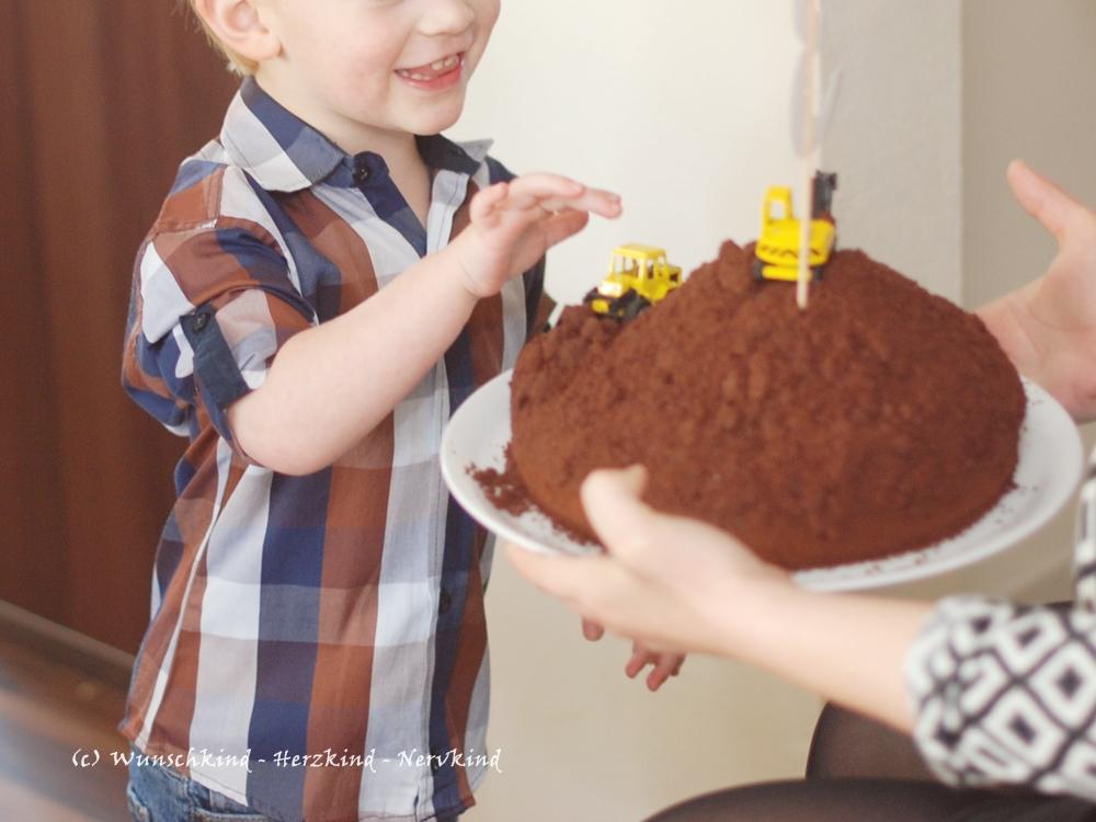 Wunschkind Herzkind Nervkind Der Bagger Geburtstag