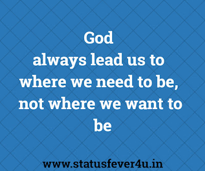 God  always lead us thought of the day