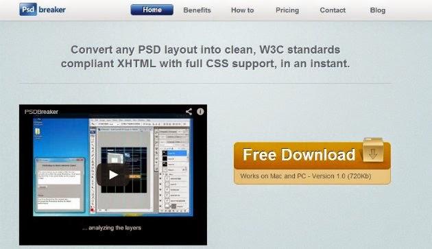 psdbeaker psd to html/CSS converter