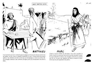 fiches coloriages evangelistes