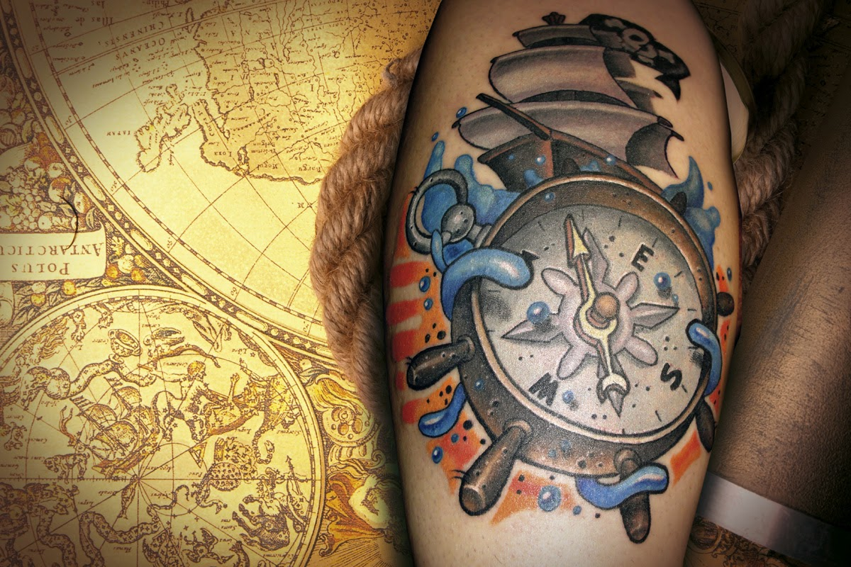 kompass tattoo alles ber kompass tattoos kompass tattoos. Black Bedroom Furniture Sets. Home Design Ideas