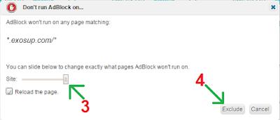 désactiver adblock adfly exosup.com