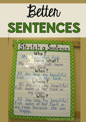 Pinterest Tip: Here's a fabulous way to teach kids to make a better sentence. Practice this often!