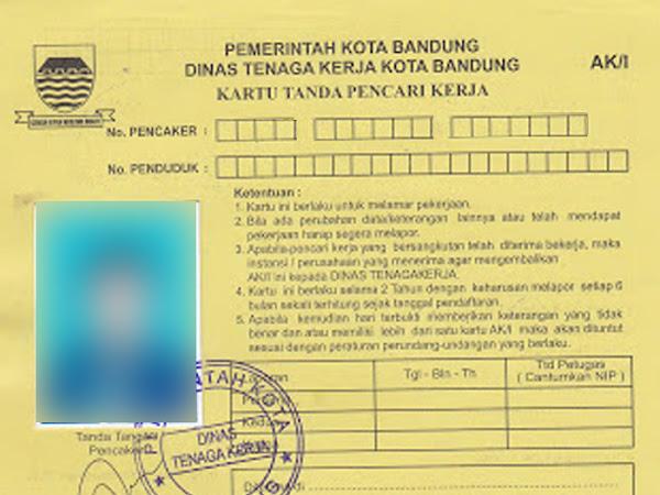 Cara Membuat AK 1 Disnakertrans Bandung