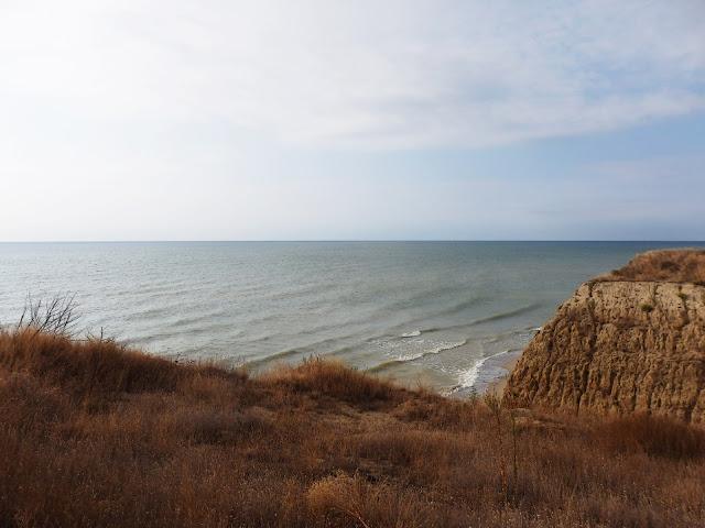 Ukraina, klif gdzieś pomiędzy Zatoką a Tatarbunarami (sierpień 2016)