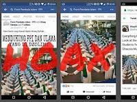 Hoax Foto Santri Siap Kawal Habib Rizieq Syihab