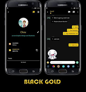 BBM Mod Black Gold V3.0.1.25 Apk1