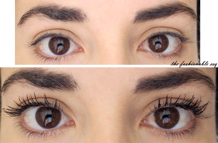 Maybelline mascara before and after