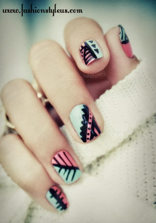 Stylish And Beautiful Nail Art Design