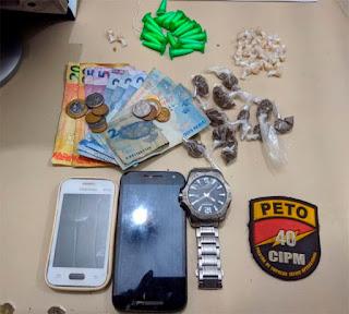 Salvador: Dois suspeitos de tráfico de drogas são presos no Nordeste de Amaralina