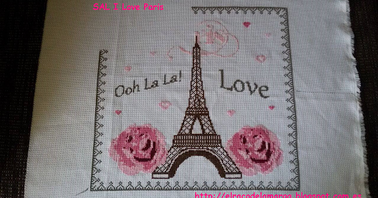 SAL I Love Paris en punto de Cruz (7 bloque)
