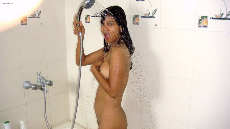 Wet pussy indian in bathroom, a girl that has a dick