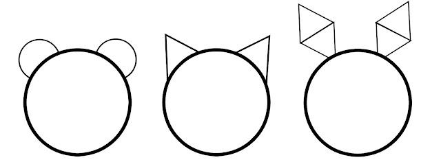 esquema para hacer orejas de animales