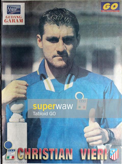 Poster Christian Bobo Vieri Italia 1996