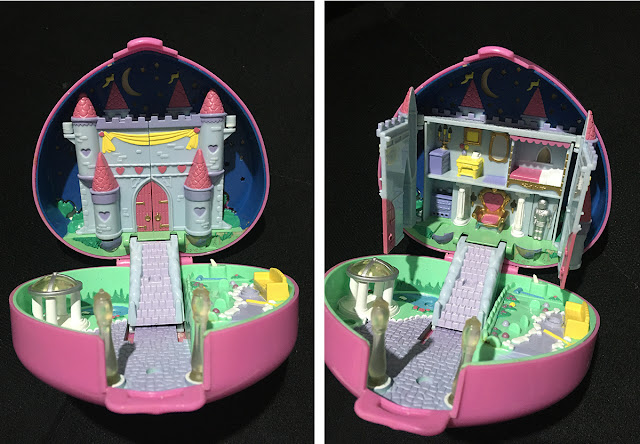 estojinho/compact Starlight Castle da Polly Pocket (Bluebird), 1992