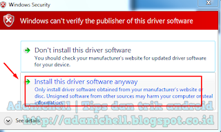 Windows Security maka kamu pilih saja windows can't verify the publisher of this driver software