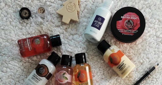 Produtinhos do calendário do advento The Body Shop!