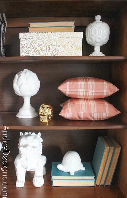 Mid-century modern hutch! MCM bookcase styling!