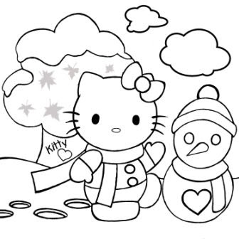 coloring pages hello kitty summer clothes | coloring pages hello kitty: Coloring Pages Hello Kitty ...