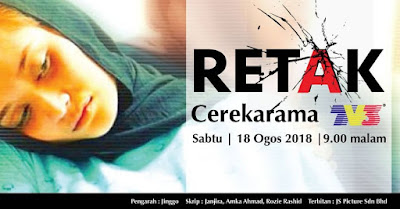 Retak, Telemovie, Telefilem, Telemovie Retak, Cerekarama Retak, TV3, Kisah Sedih, Cancer, Pregnant, 2018, Sinopsis Telefilem Retak, Pelakon Telemovie Retak, Azrel Ismail, Ayda Jebat, Riz Amin, Liza Rafar, Shariza Mahmud,
