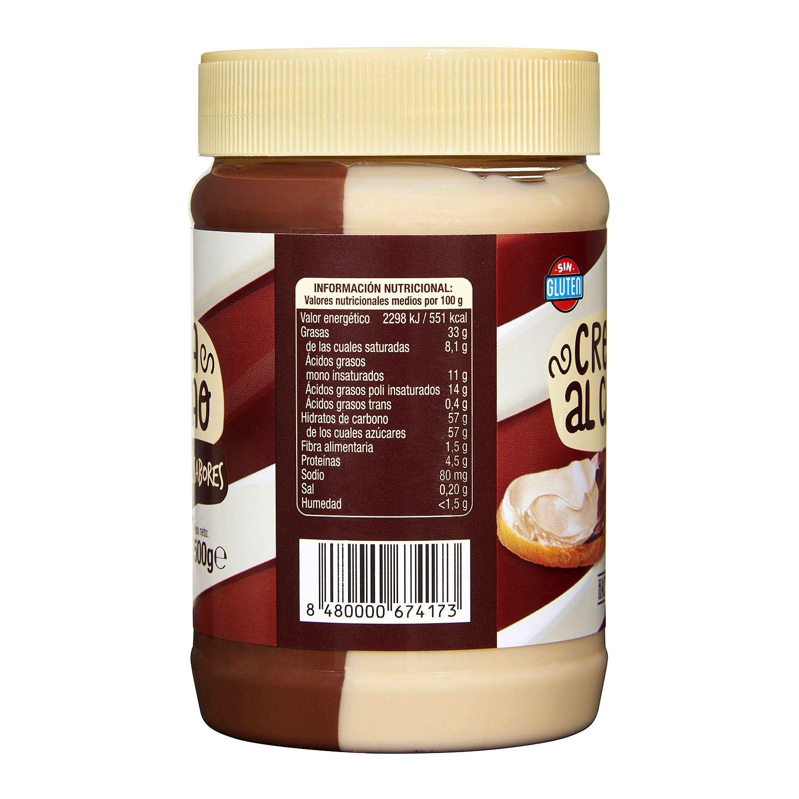 Crema al cacao con avellanas 2 sabores Hacendado
