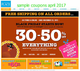 Childrens Place coupons for april 2017