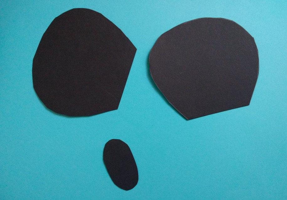 First glue the white paper plate face cut out on the black paper plate. & The Joy of Sharing: Paper Plate Mickey Mouse