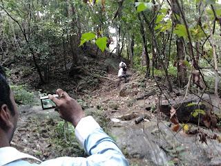 Path to Vazhvanthol waterfalls Trivandrum