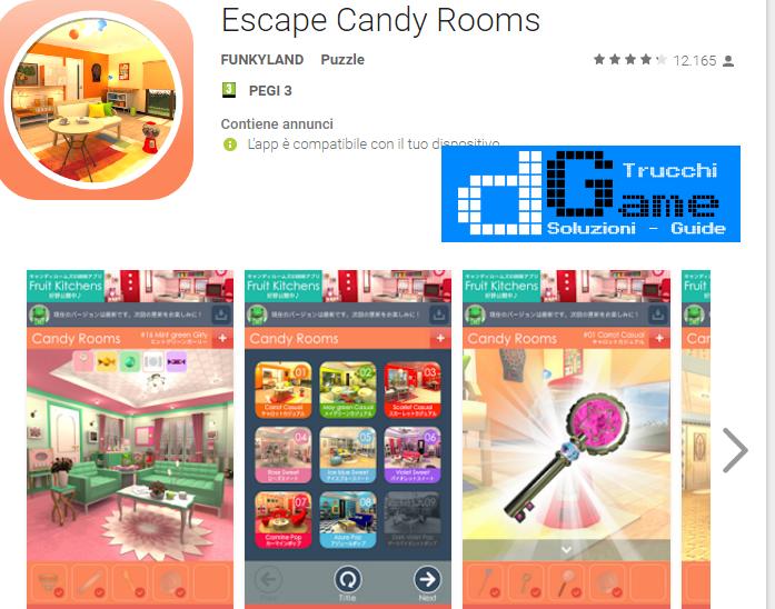 Soluzioni Candy Rooms Escape livello 11 12 13 14 15 16 17 18 19 20 | Trucchi e  Walkthrough level