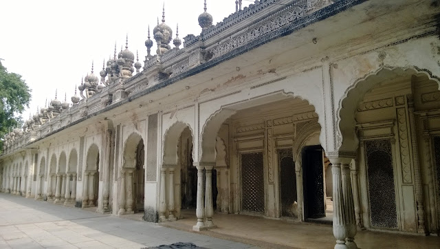Paigah Tombs in a row