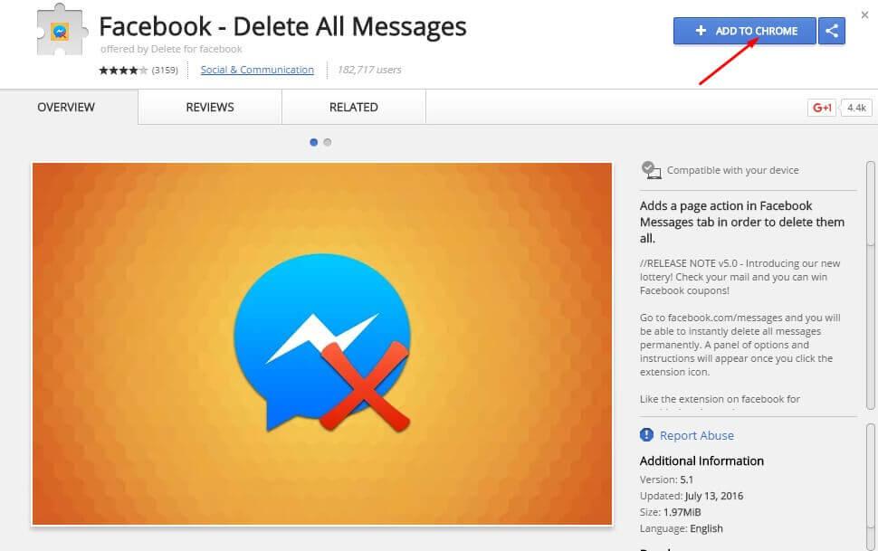 facebook chat delete karna.