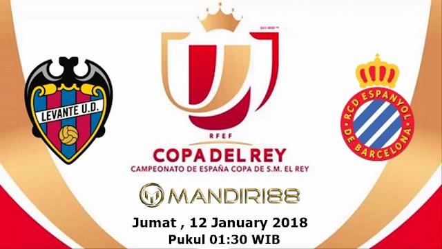 Prediksi Bola Levante Vs Espanyol , Jumat 12 January 2018 Pukul 01.30 WIB