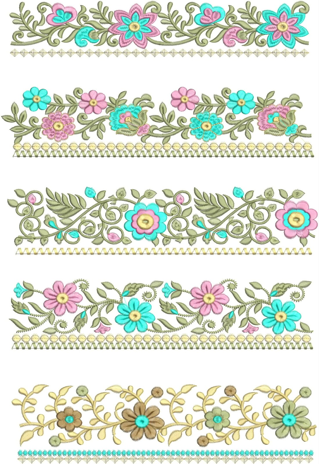 Embdesigntube Thread Embroidery Laces Embroidered Work