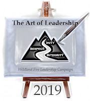 Forest Fire Leadership Campaign 2019 - Logo The Art of Leadership (Bridge and Canvas Illustrating the WFLDP Logo)