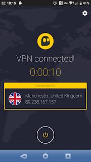 Menggunakan VPN