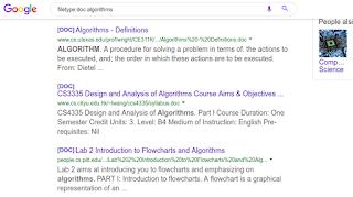 البحث عن ملفات وورد عن الخوارزميات على محرك البحث جوجل