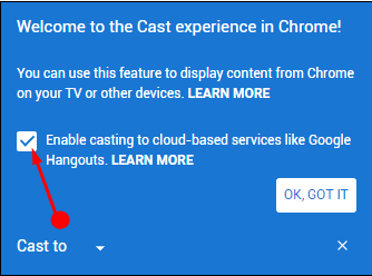 Method to Share Desktop Screen using Chromecast Windows 10