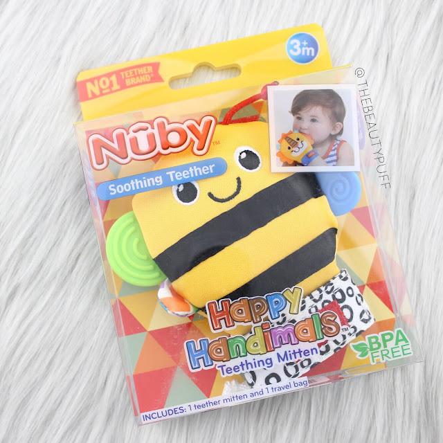 Nuby Happy Handimals Teething Mitten  |  Lusterhood