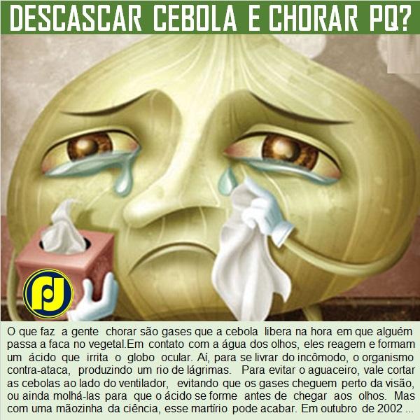 Por que as pessoas choram ao descascar cebola?