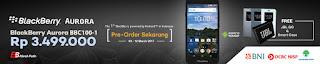 Promo BlackBerry Aurora BBC100-1 Gratis JBL GO dan Smartcase