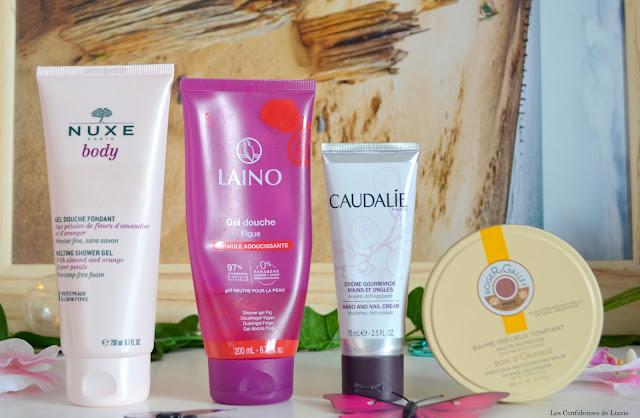 hiver - soins - cosmétiques - crème - baume pour le corps - crème pour les mains - nuxe - caudalie - laino - roger et gallet