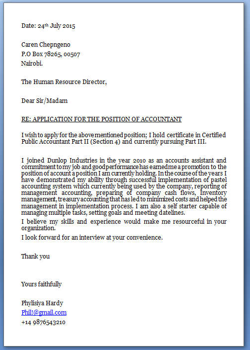 Cover Letter Treasury Accountant | Create professional resumes ...