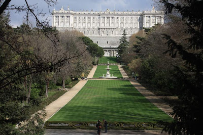 Royal Palace of Madrid from El Campo del Moro