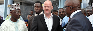 [PHOTOS] FIFA President Arrives In Nigeria On A Two Day Visit