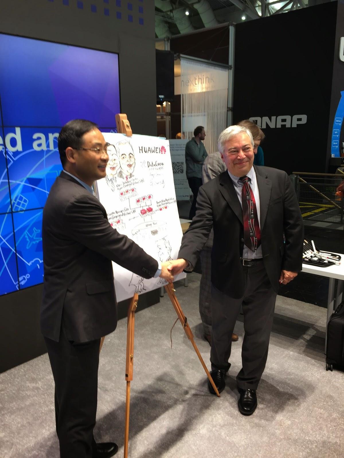 Cebit : Huawei und DataCore beschließen weltweite Partnerschaft bei Software definiertem Speicher und hyper konvergenten Lösungen