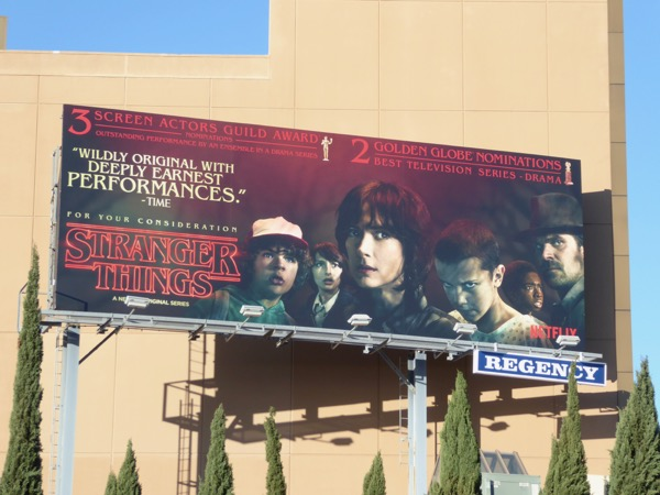 Stranger Things season 1 awards consideration billboard